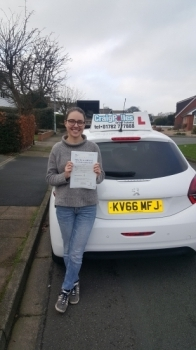 A big congratulations to Sophie Harris, who has passed her driving test at Cobridge Driving Test Centre.<br />