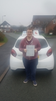 A big congratulations to Joe Eaton, who has passed his driving test at Cobridge Driving Test Centre, with just 1 driver fault.<br />