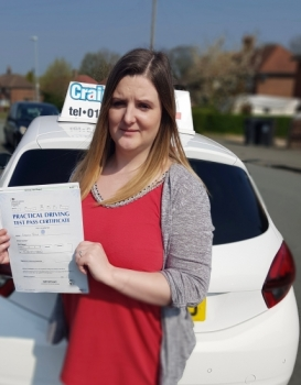 A big congratulations to Kim Yates, who has passed her driving test today at Cobridge Driving Test Centre, on her First attempt and with just 2 driver faults.<br />