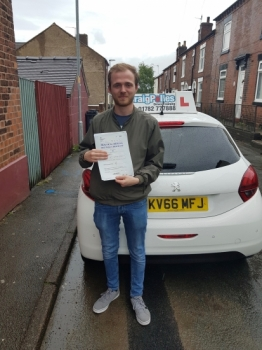 A big congratulations to Tom Simcock, who has passed his driving test today at Cobridge Driving Test Centre, on his First attempt and with just 3 driver faults.<br />
