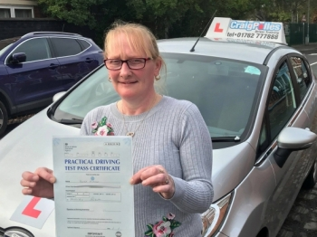 A big congratulations to Karen Hitchen, who has passed her driving test today at Crewe Driving Test Centre.<br />
