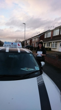 A big congratulations to Leanne Tennison, who has passed her driving test at Crewe Driving Test Centre, at her First attempt.<br />