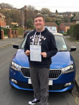 A big congratulations to Alex Gratty, who has passed his driving test toady at Cobridge Driving Test Centre.<br />