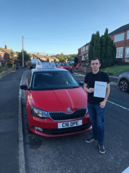 A big congratulations to Daz, who has passed his driving test at Cobridge Driving Test Centre at his First attempt.<br />