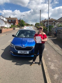 A big congratulations to Chanel Donaldson, who has passed her driving test today at Cobridge Driving Test Centre, on her First attempt and with just 6 driver faults.<br />
