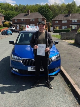 A big congratulations to Benn Mayer, who has passed his driving test today at Cobridge Driving Test Centre, on his First attempt and with just 6 driver faults.<br />