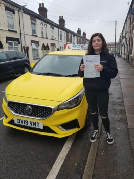 A big congratulations to Nuala McMillan, who has passed her driving test today at Cobridge Driving Test Centre, with 6 driver faults.<br />