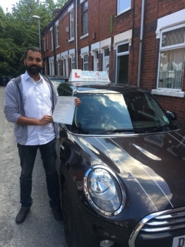 A big congratulations to Abhiraj Radhakrishnan, who has passed his driving test today at Newcastle Driving Test Centre with just 7 driver faults.<br />