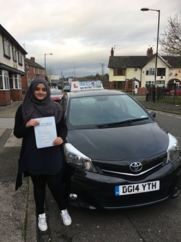 A big congratulations to Afsa Shaban, who passed her driving test today at Cobridge Driving Test Centre, with 7 driver faults.<br />