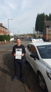 A big congratulations to Aladine Ben Aladine passed his<br />
