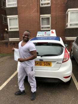 A big congratulations to Alsadig Sabone, who has passed his driving test today at Cobridge Driving Test Centre.<br />