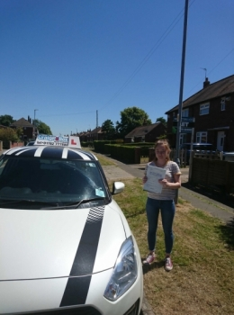 A big congratulations to Amy Morris, who has passed his driving test today at Crewe Driving Test Centre with 9 driver faults.<br />