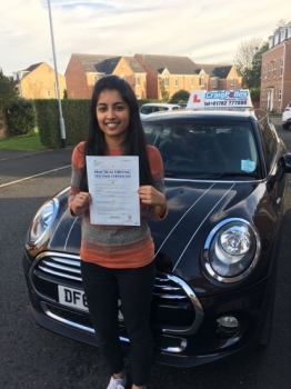 A big congratulations to Arlene Joy Arlene passed her driving test today at Cobridge Driving Test Centre and with just 6 driver faults<br />