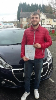A big congratulations to Arron Stanier Arron passed his<br />