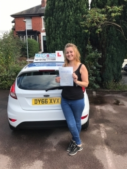 A big congratulations to Becci Shaw. Becci passed her driving test today, at Newcastle Driving Test Centre with just 1 driver fault.<br />
