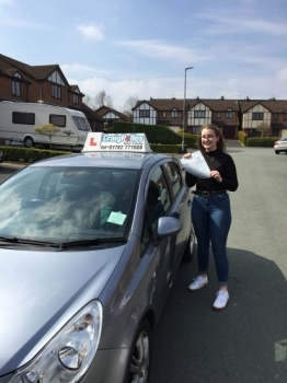 A big congratulations to Jess Mountford, who has passed her driving test today at Cobridge Driving Test Centre, on her First attempt and with just 5 driver faults.<br />