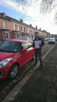 A big congratulations to Cameron Gallimore, who has passed his driving test today at Crewe Driving Test Centre, with just 4 driver faults.<br />