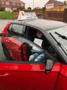 A big congratulations to Carly Bennett, who has passed her driving test today at Cobridge Driving Test Centre.<br />