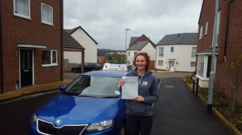 A big congratulations to Charlie Awde, who has passed her driving test today at Newcastle Driving Test Centre. First time and with just 2 driver faults.<br />