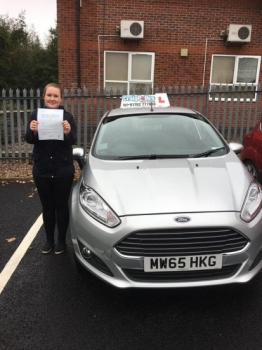 A big congratulations to Charlotte Pegg Charlotte passed her driving test today at Newcastle Driving Test Centre first time and with just 6 driver faults<br />