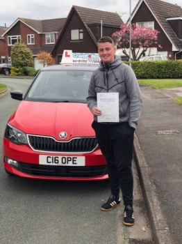 A big congratulations to Connah Mclean , who has passed his driving test today at Cobridge Driving Test Centre.<br />