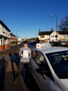 A big congratulations to Connor Riley, who passed his driving test today at Cobridge Driving Test Centre, with just 2 driver faults.<br />