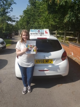 A big congratulations to a Sharny Jones, who has passed her driving test today at Cobridge Driving Test Centre, at her First attempt and with just 4 driver faults.<br />