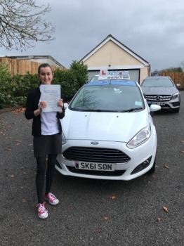 A big congratulations to Ellie Cunningham, who passed her driving test today at Newcastle Driving Test Centre, with just 3 driver faults.<br />