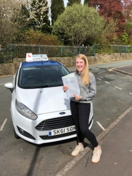 A big congratulations to Emily Edwards, who has passed her driving test today at Newcastle Driving Test Centre.<br />