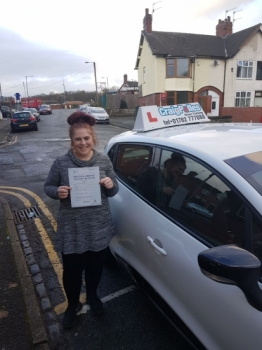 A big congratulations to Emma Ray, who has passed her driving test at Cobridge Driving Test Centre, with just 5 driver faults.<br />