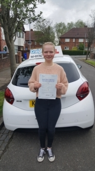 A big congratulations to Evie Earls-Davis, who has passed her driving test today at Newcastle Driving Test Centre.<br />
