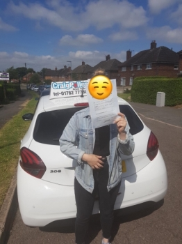 A big congratulations to a shy Courtney walker, who has passed her driving test today at Cobridge Driving Test Centre, at her First attempt and with just 4 driver faults.<br />