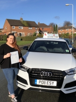 A big congratulations to Georgia Cadman, who has passed her driving test today at Cobridge Driving Test Centre, with just 1 driver fault.<br />