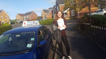 A big congratulations to Georgia Clarke Georgia passed her driving test today at Cobridge Driving Test Centre first time and with just 1 driver fault<br />