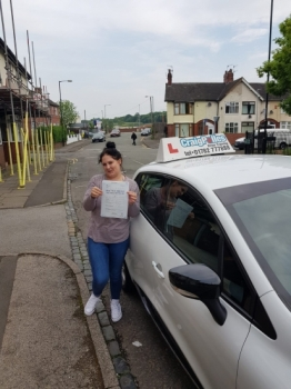 A big congratulations to Gina, who has passed her driving test at Cobridge Driving Test Centre with just 5 driver faults.<br />