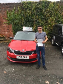 A big congratulations to Grahame Boswell Grahame passed his driving test at Cobridge Driving Test Centre with 8 driver faults <br />