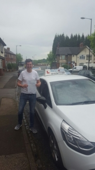 A big congratulations to Greg Rowley Greg passed his driving test today at Cobridge Driving Test Centre first time and with just 3 driver faults <br />