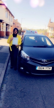 A big congratulations to Henna Parveen, who has passed her driving test toady at Cobridge Driving Test Centre,<br />