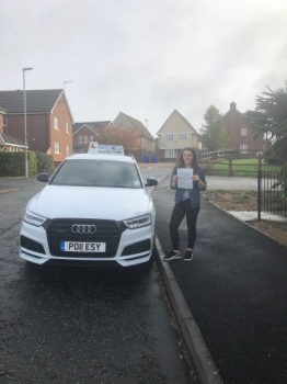 A big congratulations to Alicia Arnold, who has passed her driving test today at Newcastle Driving Test Centre.<br />