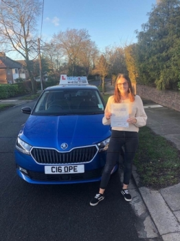 A big congratulations to Jade Forsyth, who has passed her driving test today at Cobridge Driving Test Centre, with 6 driver faults.<br />