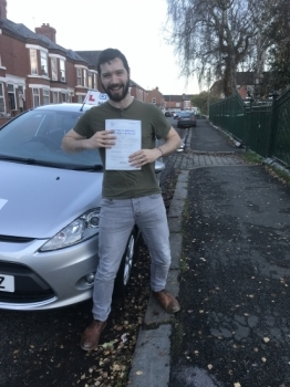 A big congratulations to Connor Herbert-Jackson, who has passed his driving test today at Crewe Driving Test Centre.<br />