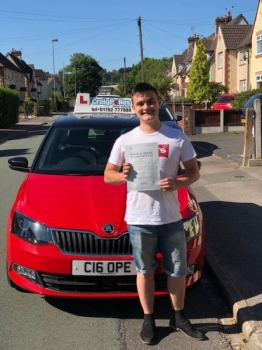 A big congratulations to Isaac Vickers, who has passed his driving test toady at Cobridge Driving Test Centre.<br />