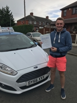 A big congratulations to Jack Foster Jack passed his driving test today at Cobridge Driving Test Centre first time and with just 7 driver faults <br />