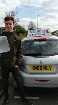 A big congratulations to Jack Holt Jack passed his<br />