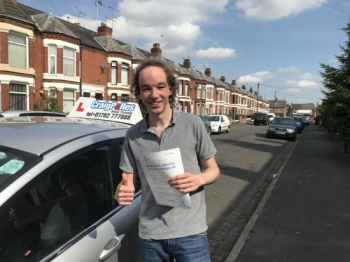 A big congratulations to Jacob Lewis, who has passed his driving test toady at Crewe Driving Test Centre,<br />