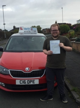 A big congratulations to Jake Rogerson Jake passed his driving test today at Cobridge Driving Test Centre first time and with just 4 driver faults<br />