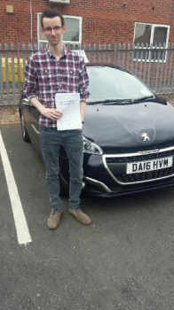 A big congratulations to James Groves, who has passed his driving test today at Newcastle Driving Test Centre, with 7 driver faults.<br />