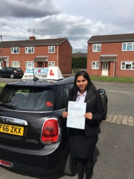 A big congratulations to Janeeta Rose Thomas, who has passed her driving test today at Newcastle Driving Test Centre, with just 3 driver faults.<br />