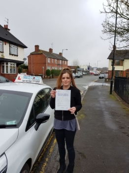 A big congratulations to Jemma Hanson, who has passed her driving test today at Cobridge Driving Test Centre, at her First attempt and with just 3 driver faults.<br />