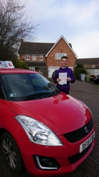 A big congratulations to Joe Speakman, who has passed his driving test today in blizzard conditions at Crewe Driving Test Centre, at his First attempt and with just 3 driver faults.<br />